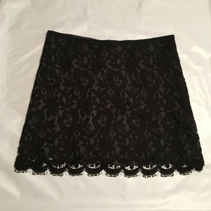 Theory Mini Skirt Black Lace NWT Size 0 Sexy Lined